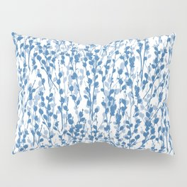 Petite Double Pussywillow Pattern — Blue Pillow Sham
