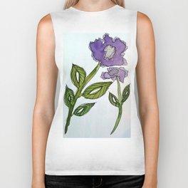 Purple Passion Flower Biker Tank