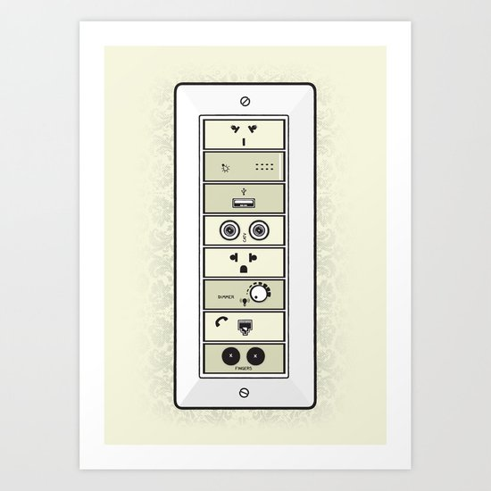 Mysterious Plugs Art Print
