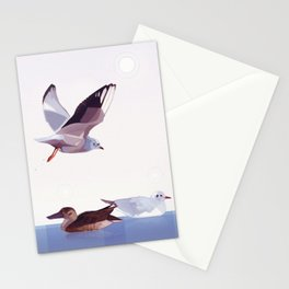 Gulls and Duck Stationery Cards