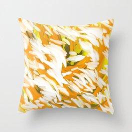 Flurry Orange & White Abstract Throw Pillow