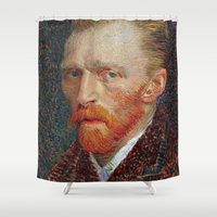 van gogh Shower Curtains featuring Van Gogh 1887 by Palazzo Art Gallery