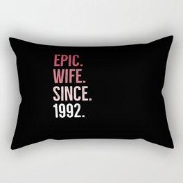 Epic Wife Since 1992 Rectangular Pillow