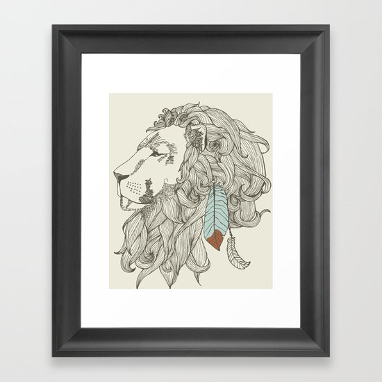 chief in Colour Framed Art Print