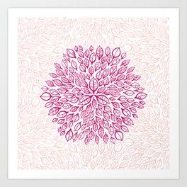Citrus hexagon Art Print
