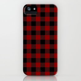 Red and Black Plaid iPhone Case