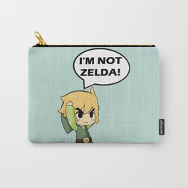I'm not Zelda! (link from legend of zelda) Carry-All Pouch