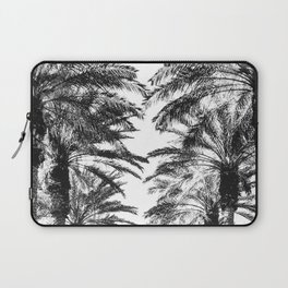 {2 of 2} Palm Tree Canopy // Topical Summer Beach Black and White Sky Laptop Sleeve