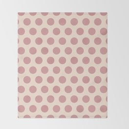 Dusty Rose Polka Dots 771 Throw Blanket