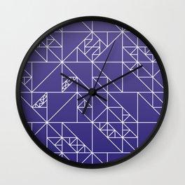Blue Triangles Wall Clock