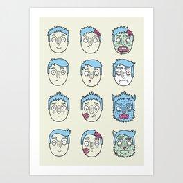 Monster Mash Up Art Print