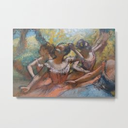 Four Ballet Dancers on Stage Metal Print