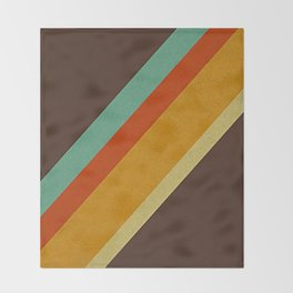 Retro 70s Color Palette Throw Blanket