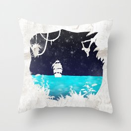 Discover the Jungle Throw Pillow