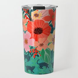 Jar with flowers, cute floral bouquet Travel Mug