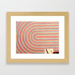 Curve Crayon Framed Art Print