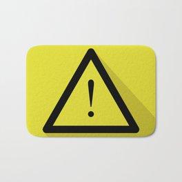 warning sign Bath Mat