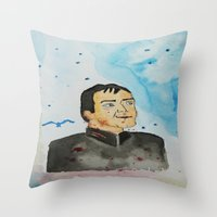 crowley Throw Pillows featuring supernatural crowley by meldemirci