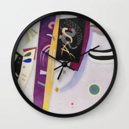 Wassily Kandinsky - Violet - Orange Wall Clock