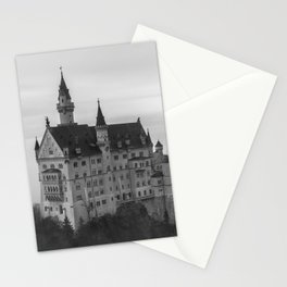 Black and White Neuschwanstein Castle Stationery Cards