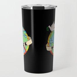World Peace, Dove, Peace Sign, Earth Travel Mug