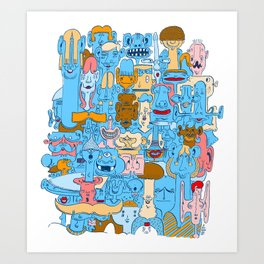 Bunch o' Freaks Art Print