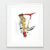 street fighter Framed Art Prints featuring The Street Fighter by JoPruDuction Art