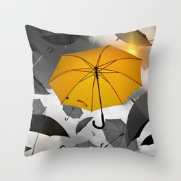 individuality Throw Pillow
