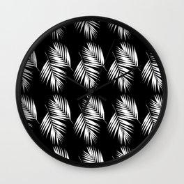 Palm Leaves Pattern #9 #White #Black #decor #art #society6 Wall Clock