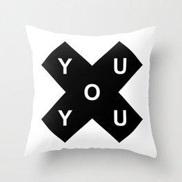YOU X YOU Throw Pillow