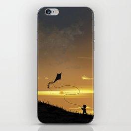 Kite-Flying at Sunset iPhone Skin
