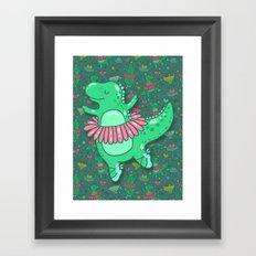Dino ballet Framed Art Print
