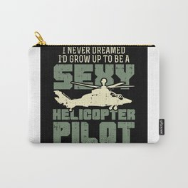 Helicopter Helicopter Pilot Gift Idea Design Carry-All Pouch