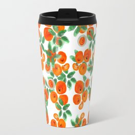 Fresh Orange Juice Pattern Travel Mug