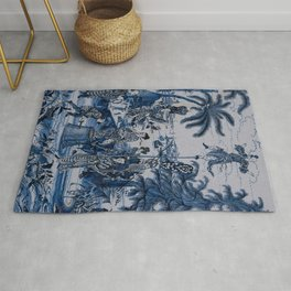 17th Century Delftware Chinoiserie Rug