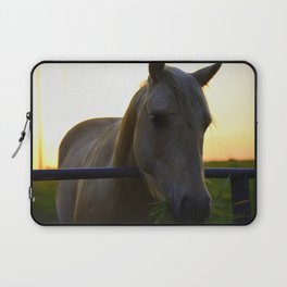 Beautiful Horse at Sunset Laptop Sleeve