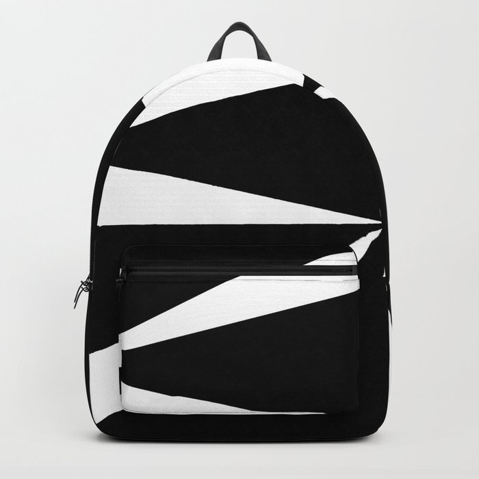 Triangles in Black and White Backpack