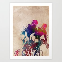 cycling sport art #cycling #sport Art Print