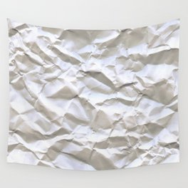 Crumpled Paper Wall Tapestry