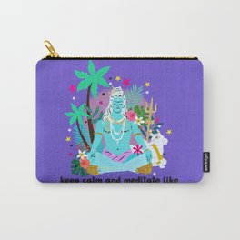 Lord Shiva meditates Carry-All Pouch