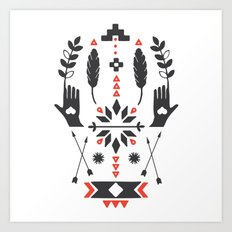 Norwegian Folk Graphic Art Print