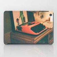typewriter iPad Cases featuring Typewriter by Cheryl Cha-Cyn