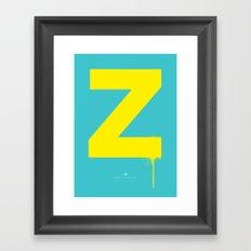 Z. Framed Art Print
