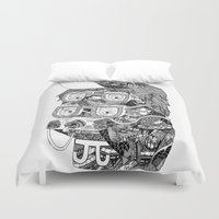hipster Duvet Covers featuring hipster by Jess John