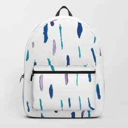 Minimal blue and purple brush strokes Backpack