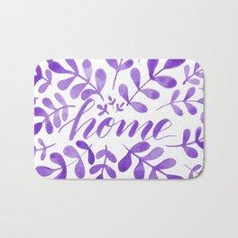 Watercolor home foliage - purple Bath Mat