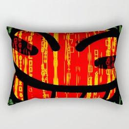 Cowboy Bebop Hacked Smile Rectangular Pillow