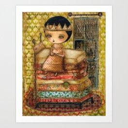 Sleepless Nights With The Princess And The Pea Art Print