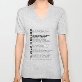 The Woman in the Arena, Daring Greatly - Theodore Roosevelt Quote Unisex V-Neck