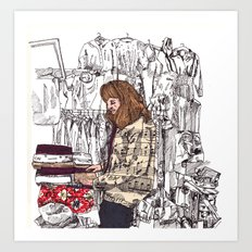 Shop Girl Art Print